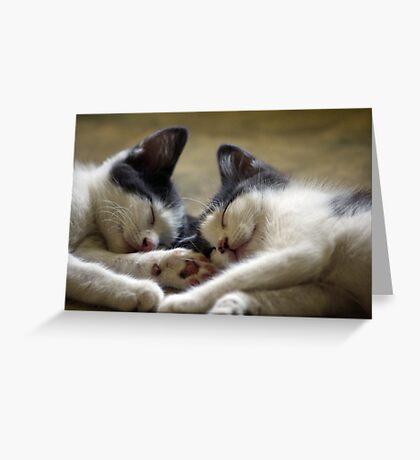 Sleepy Heads Greeting Card