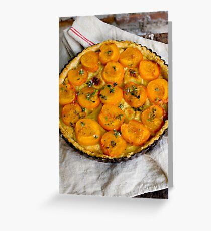 Apricot Tart Greeting Card