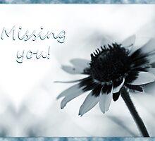 Missing you, daisy blue by Corri Gryting Gutzman