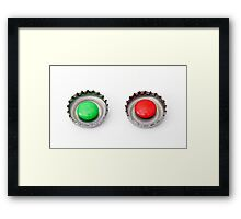 lids of soft drinks and confectionery Framed Print