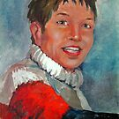 Lady in Red Sweater by Norman Kelley