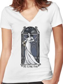 The Flying Man Women's Fitted V-Neck T-Shirt