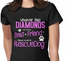 Rescue Dog Womens Fitted T-Shirt