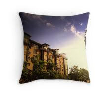 Queen's Square Apartments and Albert Clock, Belfast Throw Pillow