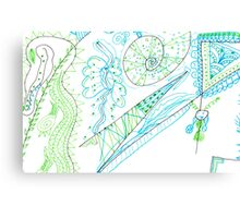Dueling Doodlers - Battle Lines Are Drawn! Canvas Print