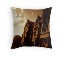 Lanyon Building from side, Queen's University Belfast Throw Pillow