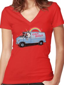 Unicreep Women's Fitted V-Neck T-Shirt