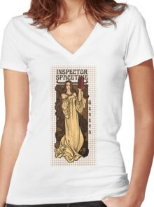 Theatre in Spacetime Women's Fitted V-Neck T-Shirt