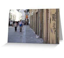 An alley in Florence Greeting Card