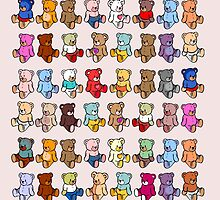 Colourful Teddy Bears by iconymous