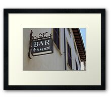 Italian Bar Framed Print