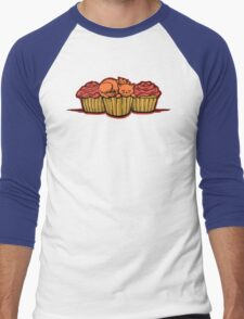 Cupcake Cats Men's Baseball ¾ T-Shirt