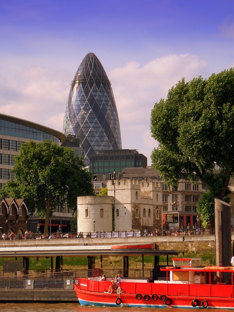 """The Gherkin"", London by Chris Millar"