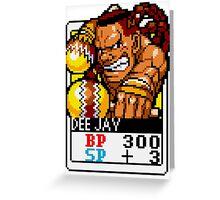 DeeJay Greeting Card