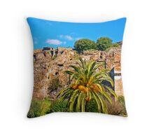 Pompeii Ruins 79AD Throw Pillow