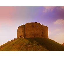 Clifford's Tower, York Castle Keep, England Photographic Print