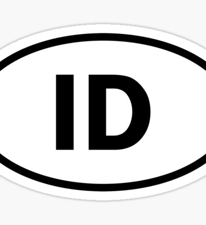Idaho - ID - oval sticker and more Sticker