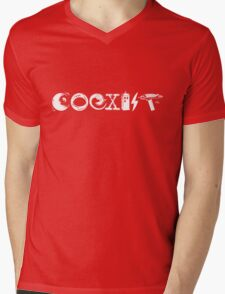 COEXIST - Let the Worlds of Nerdom Unite! Mens V-Neck T-Shirt