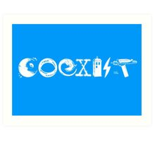 COEXIST - Let the Worlds of Nerdom Unite! Art Print