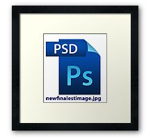 hilarious image file name icon  Framed Print