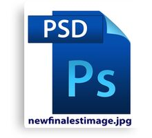 hilarious image file name icon  Canvas Print