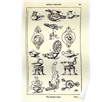 A Handbook Of Ornament With Three Hundred Plates Franz Sales Meyer 1896 0381 Metal Objects Antique Lamp Poster