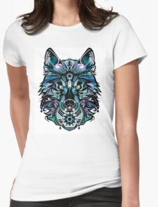 Snow Wolf Womens Fitted T-Shirt