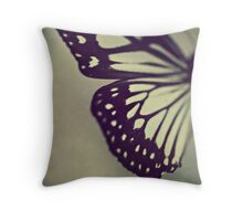 Black and White Wing Throw Pillow