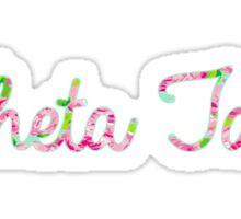 ThetaT - Pink Flowers Sticker