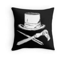 Syndicate inspired pirate flag Throw Pillow
