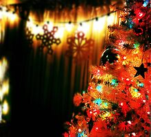 Colorfully Lit Christmas Tree by Nalinne Jones