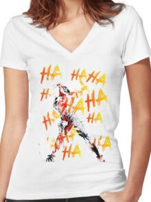 Just laugh with her Women's Fitted V-Neck T-Shirt