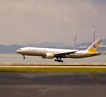 Royal Brunei Air - Hong Kong Airport by Mark Richards