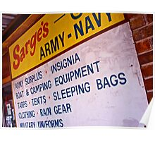 Texas A&M Army Navy Store Poster