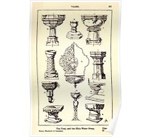 A Handbook Of Ornament With Three Hundred Plates Franz Sales Meyer 1896 0337 Vases Font Holy Water Stoup Poster