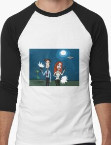 ZEEK ... The Martian Geek sneaks past Mulder to meet Scully Men's Baseball ¾ T-Shirt