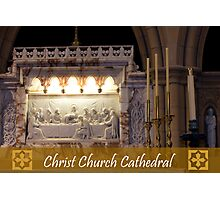 The Last Supper - Christ Church Cathedral Photographic Print
