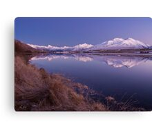 Lake Clearwater & Mt Potts Canvas Print