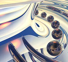 Looking Down Into A Reflective Torus Shell by Hugh Fathers