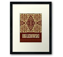 The Big Lebowski Rug Framed Print