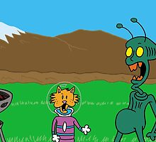 ZEEK from Mars gets visited by Ms Whiskers from Cat Planet by CattapanComics