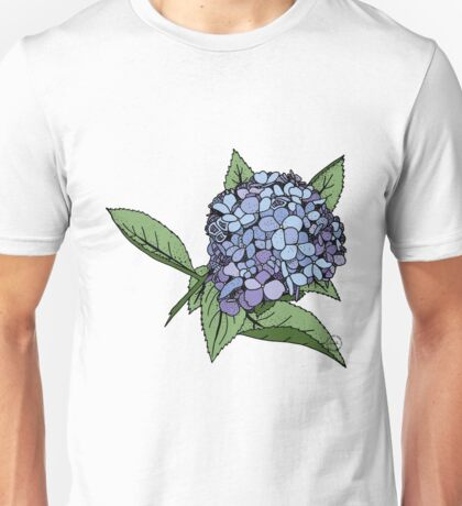 Hydrangea Blue Unisex T-Shirt