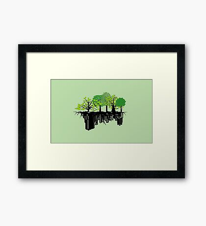 Ecology problem Framed Print
