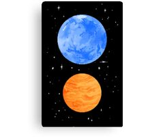 Opposite Planets Canvas Print