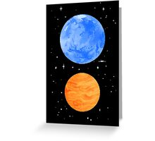 Opposite Planets Greeting Card