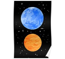 Opposite Planets Poster