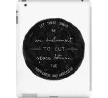 These songs iPad Case/Skin