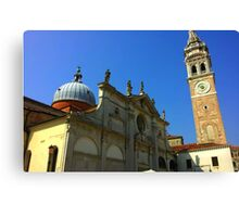 Cathedral with Dome and Tower Canvas Print