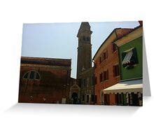 Venetian Bell Tower Greeting Card