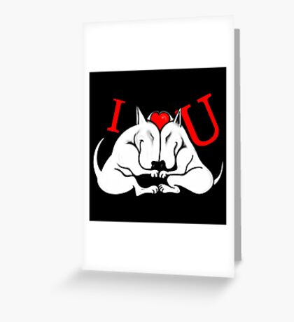 English Bull Terrier Valentines Day Design Greeting Card
